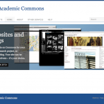 Yale Academic Commons - front page