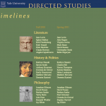 Directed Studies Timeline: Home Page
