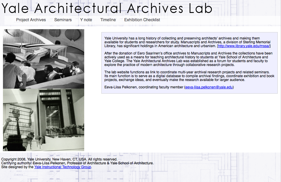 yNote: Yale Architectural Archives Lab