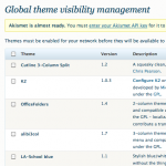 Theme Visibility Manager: Visibility management screen