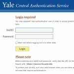 wpCAS-w-LDAP: CAS Authentication Screen