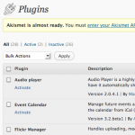 Plugin Visibility Manager: Normal View
