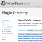 Plugin Visibility Manager: Wordpress Repository