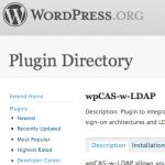 wpCAS-w-LDAP: Wordpress Repository