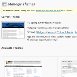 Theme Visibility Manager: Normal View