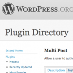 Multi Post: Wordpress Plugin Repository