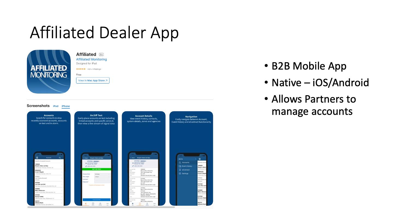 Affiliated Dealer App
