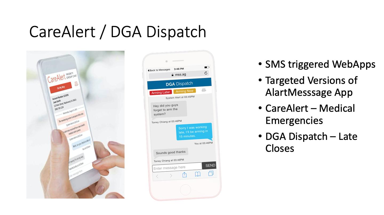 CareAlert/DGA Dispatch